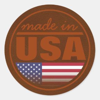 """Fabriqué… aux """"Etats-Unis """" Sticker Rond"""