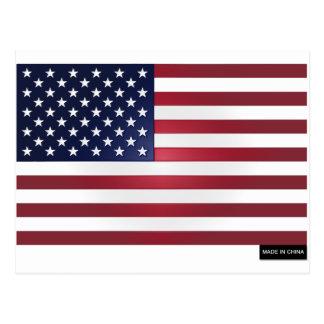 Fabriqué drapeau en Chine - USA Carte Postale