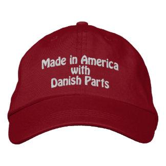 Fabriqué en Amérique avec les pièces danoises Casquette Brodée