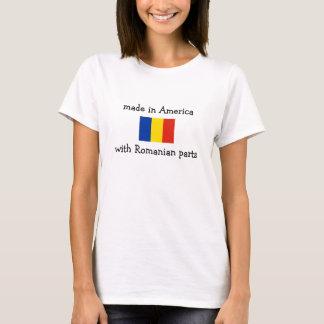 fabriqué en Amérique avec les pièces roumaines T-shirt
