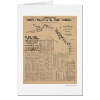 Fabriques de conserves saumonées du nord-ouest carte de vœux