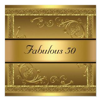 Fabuleux à l'invitation d'or de fête carton d'invitation  13,33 cm