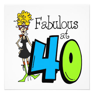 Fabuleux blond à l anniversaire 40 invitations
