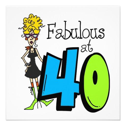 Fabuleux blond à l'anniversaire 40 invitations