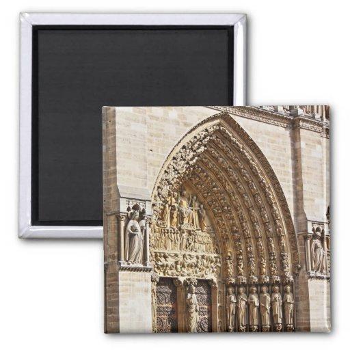 Façade de Notre Dame Aimants Pour Réfrigérateur