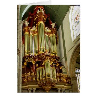 Façade d'organe de tuyau du Gouda Carte De Vœux