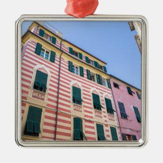 Façades Monterosso Cinque Terre Ligurie Ital de Ornement Carré Argenté