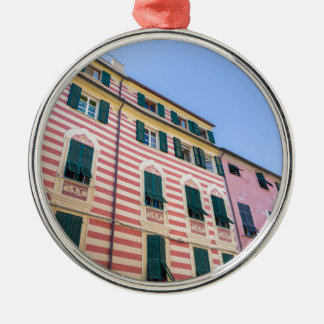 Façades Monterosso Cinque Terre Ligurie Ital de Ornement Rond Argenté