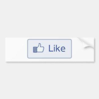 Facebook aiment autocollant de voiture