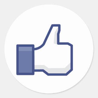 Facebook aiment le bouton adhésif rond