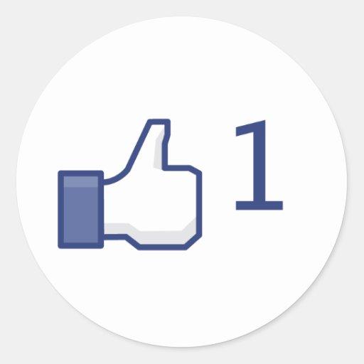 Facebook aiment - les autocollants ronds