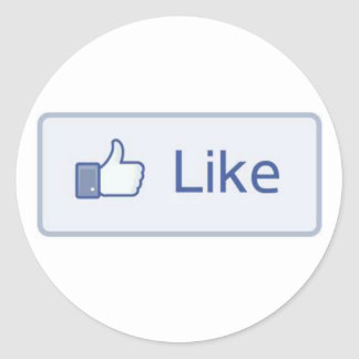 Facebook aiment sticker rond