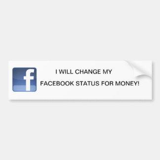 facebook autocollant pour voiture