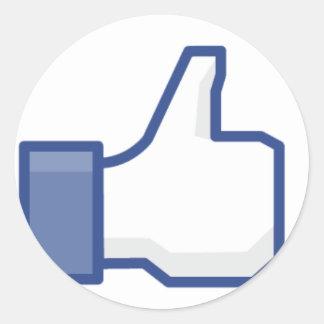 Facebook comme la main autocollants