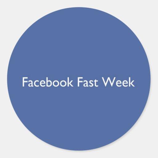 Facebook jeûnent semaine autocollants ronds