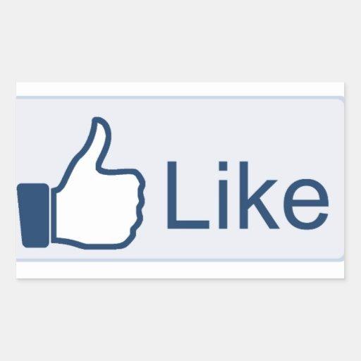 Facebook 'Liked Autocollant En Rectangle