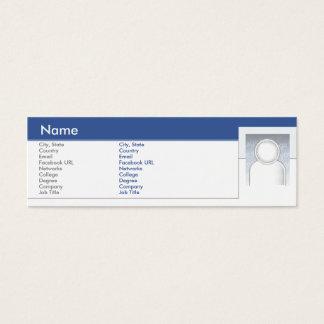 Facebook - maigre mini carte de visite