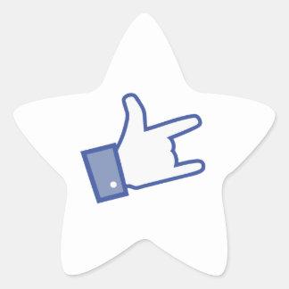 Facebook vous aiment basculer l icône de rock de autocollants en étoile