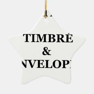FACTEUR TIMBRÉ et ENVELOPPÉ - Jeux de Mots Ornement Étoile En Céramique