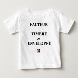 FACTEUR TIMBRÉ et ENVELOPPÉ - Jeux de Mots T-shirt Pour Bébé