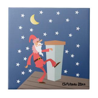 """Facultatif """"ajoutez le texte"""" Père Noël drôle sur Petit Carreau Carré"""