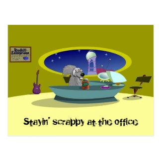 Faible écureuil à la carte postale de bureau