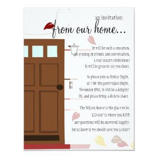 Faire bon accueil à des portes invitations personnalisées