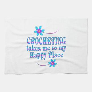 Faire du crochet mon endroit heureux serviettes éponge