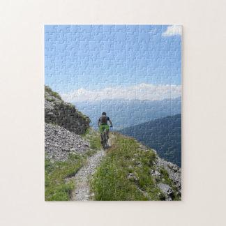 Faire du vélo de montagne puzzle