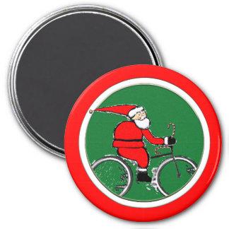 Faire du vélo de Père Noël Aimant