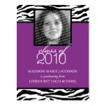 Faire-part 2010 fabuleux d'obtention du diplôme de carte postale
