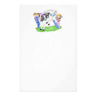 Faire-part à la maison de vache à Mooving nouveau Papier À Lettre