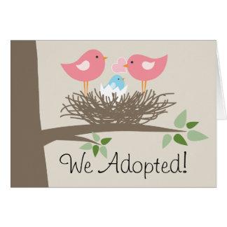 Faire-part d'adoption pour les couples gais - le
