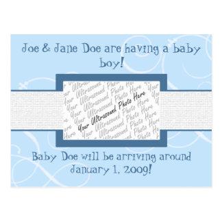 Faire-part de bébé carte postale