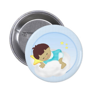 Faire-part de bébé/magnet de douche badge avec épingle