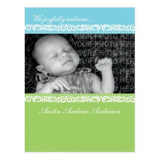 Faire-part de cadre de tableau de bébé cartes postales