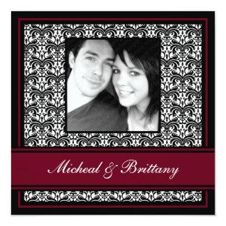Faire-part de fiançailles de Bourgogne mariage