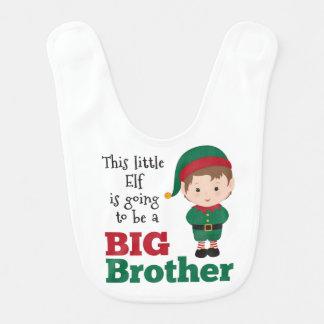 Faire-part de frère d'Elf de Noël Bavoir De Bébé