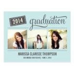 Faire-part de graduation d'obtention du diplôme d' carte postale