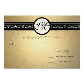 Faire-part de mariage 5x7 de remous de damassé