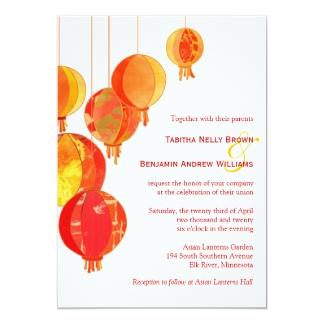 Extrêmement Invitations & Faire-part Asiatique personnalisés   Zazzle.fr GJ03