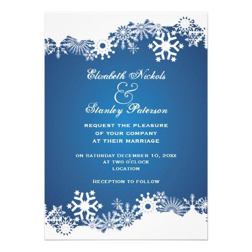faire part de mariage blanc bleu d 39 hiver de flocon carton d 39 invitation 12 7 cm x 17 78 cm zazzle. Black Bedroom Furniture Sets. Home Design Ideas