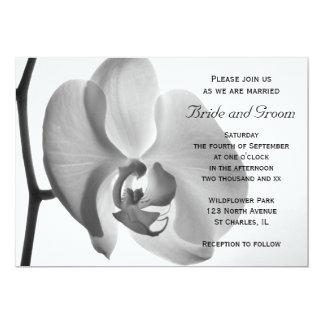 Faire-part de mariage blanc d'orchidée