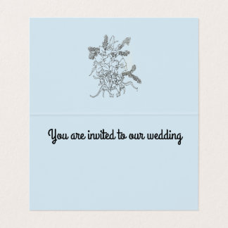 Faire-part de mariage, bleu de carte de pli