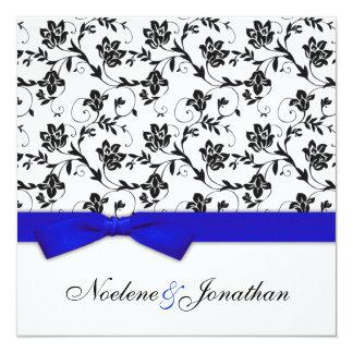 Faire-part de mariage bleu de fleur d'arc carton d'invitation  13,33 cm
