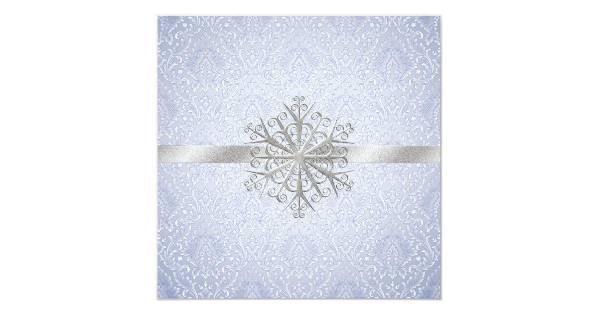 faire part de mariage bleu en cristal d 39 hiver. Black Bedroom Furniture Sets. Home Design Ideas