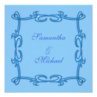 Faire-part de mariage bleu
