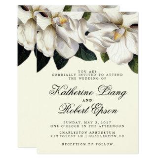 Faire-part de mariage botanique de magnolia du sud