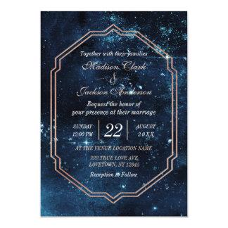 Faire-part de mariage céleste de galaxie de ciel