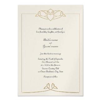 Faire-part de mariage celtique